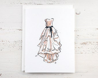 Bridal Gown Note Card