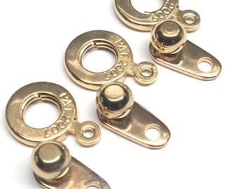 Ball and Socket 8MM Clasp, Gold Plated, qty 3