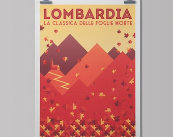 Cycling Art Print   'Tour of Lombardy'