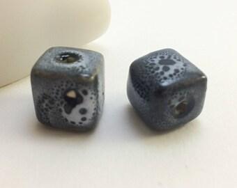Ceramic cube bead