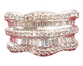 Ring 18k White Gold, Diamonds. Sea of Diamonds (#4763)