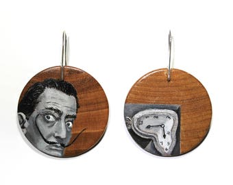Hand-Painted Dali earrings