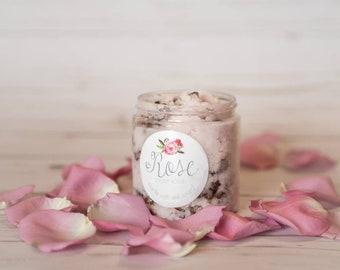 Rose sugar crub