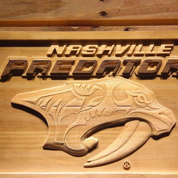 Nashville Predators Wooden sign wall decor 3D wood Art