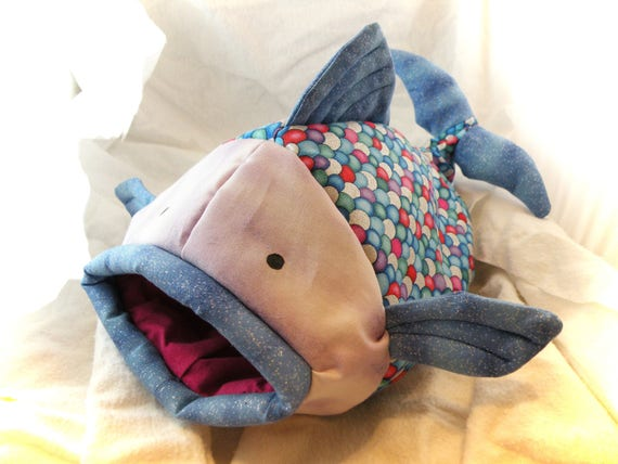 Rainbow Fishie Fish Snuggle Sleep Sack Bed for Hedgehogs and Pocket Pets
