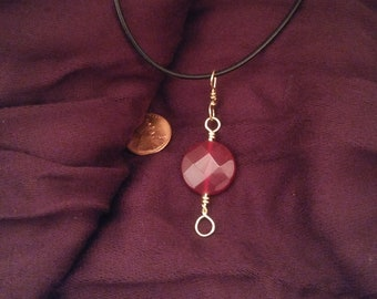 Red Onyx bead Necklace