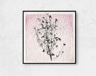 Herbs Painting Original, Botanical Minimalist Art, Gardening Gift, Living Room Wall Decor, Dining Room Wall Decor, Home Decor Gift Idea