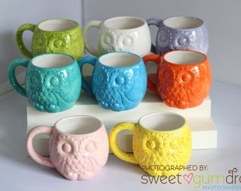 Owl Mug | Ceramic Coffee Cup | other colors available | Owl Mug | Handmade and Hand Painted Ceramic from my Charleston, SC Studio