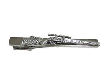 Sniper Rifle Square Tie Clip