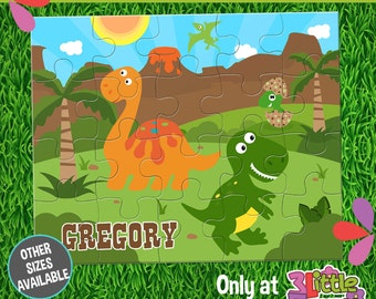 Dinosaurs Puzzle - Personalized 8 x 10 Puzzle - Personalized Name Puzzle - Personalized Children Puzzle - Personalized Dinosaurs Puzzle