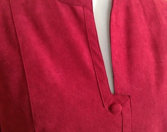 Clarissa Ultrasuede coat berry