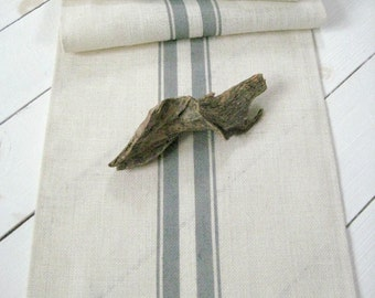 Exceptionnel Burlap Table Runner With Gray Stripes / Rustic Table Runner / Nautical  Runner / Grain Sack Runner / Wedding Runner / Farmhouse Runner