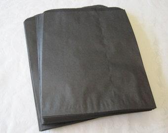 50 Paper Bags, Black Paper Bags, Black Gift Bags, Black Bags, Gift Bags, Favor Bags, Merchandise Bags, Photo Bags, Kraft Bags 6x9
