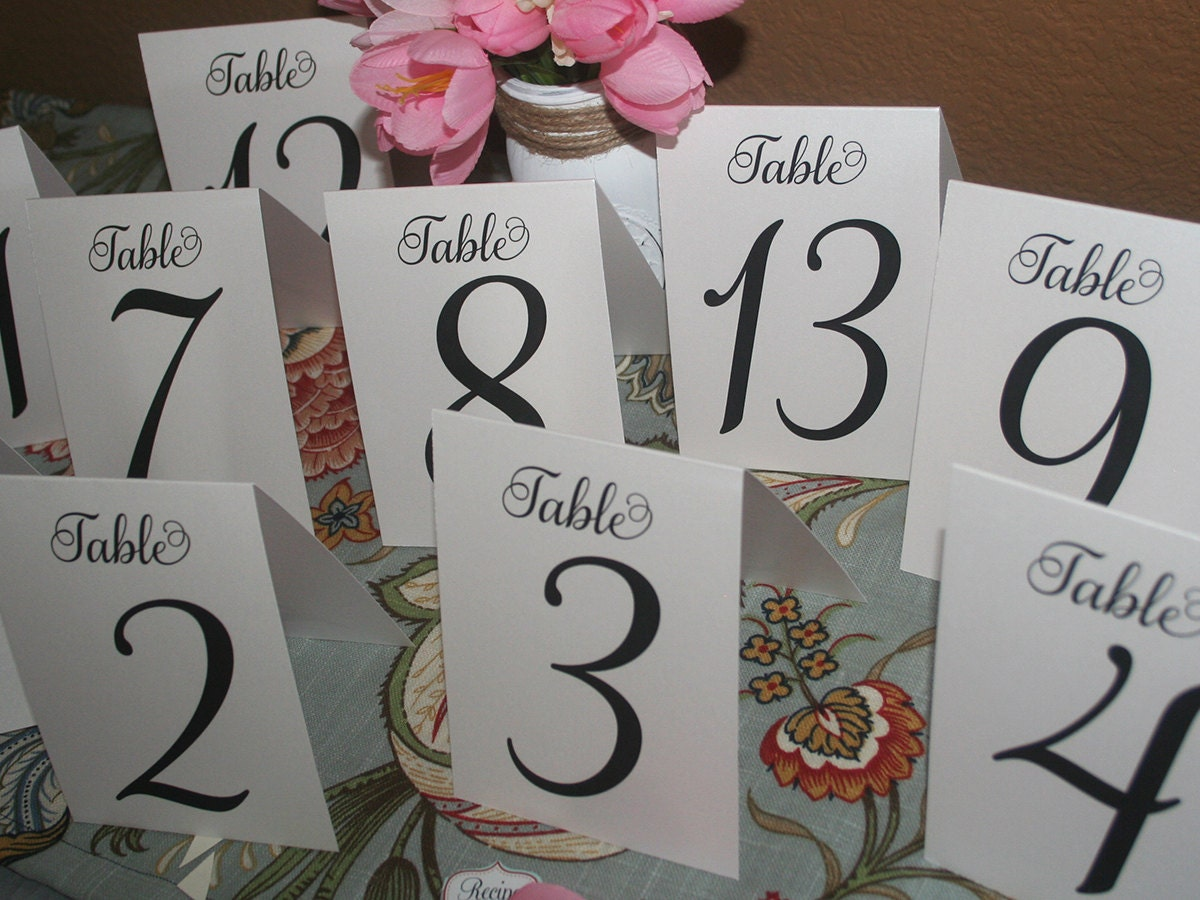 Table Numbers, Rustic Table Number, Wedding Table Numbers, Table ...