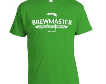 Brewmaster, Homebrew Shirt, Homebrewer Gift, Craft Beer Shirt, Brewing Beer, Birthday Present Christmas Gift for Husband Boyfriend