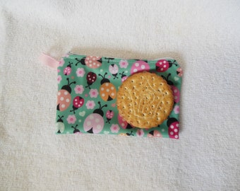 Snack bag // Reusable snack bag // Snack pouch // Washable bag