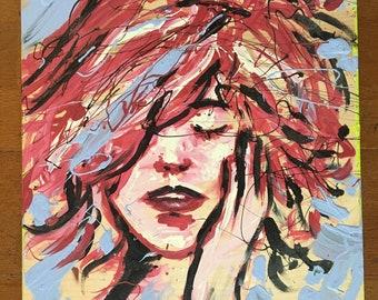 Fiery Red Hair - Original Painting