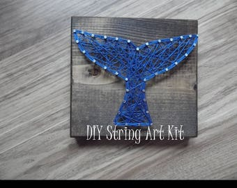 diy string art kit, string art kit, whale tail string art, string art whale tail, diy string art whale tail, string art kit whale tail, kit