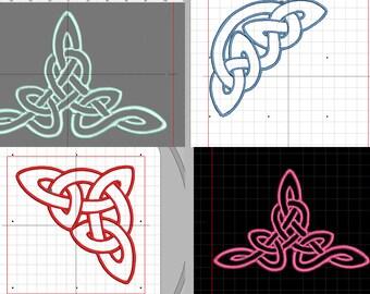 """4 Stickdateien """"Keltische Dreiecke"""" in verschiedenen Größen"""
