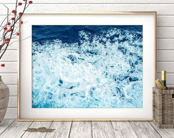 Ocean Print, Ocean Photography, Sea Print, Ocean Wall Art, Sea Poster, Ocean Poster, Ocean Wall Print, Ocean Photo, Blue Ocean, Photo Ocean