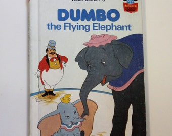 "Disney's ""Dumbo the Flying Elephant"" Wonderful World of Reading Hardbound book - Children's Book, Disney Book, Story Book, Dumbo Book"