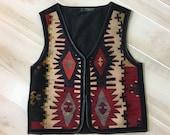 Vintage Kilim Blanket Ves...
