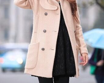 Women's gray cape winter coat oversize jacket women wool coat plus size woolen outerwear BJ045,xl,xxl.3xl
