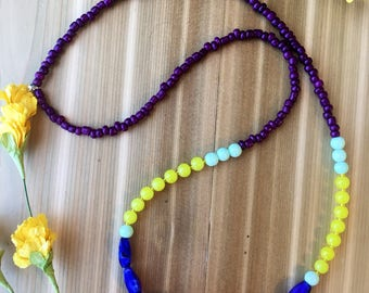 Summer Days Color Block Necklace