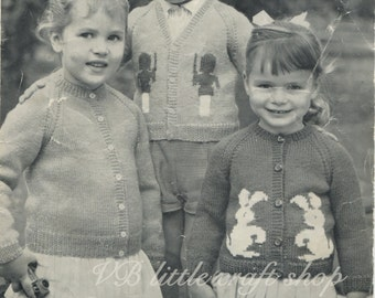 Child's cardigans knitting pattern. Instant PDF download!
