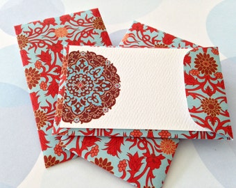 Gift Enclosure Card, Mini Card, Mini Cards and Envelopes, Gift Card Holder, Set of 10