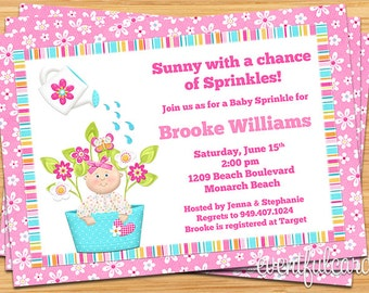 Baby Sprinkle Shower Invitation for a Girl