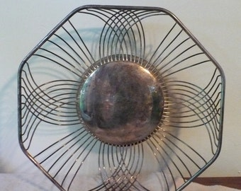 Vintage Silver Wire Bread Basket