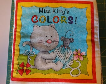 Miss Kitty's Colors Soft Fabric Book