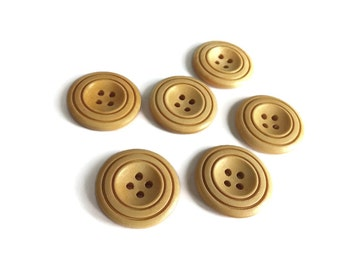 Natural Wood Buttons 30mm - set of 6 natural sewing wood button
