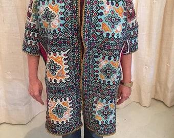 Beautiful Antique Pakistani Hand Embroidered Wedding Coat