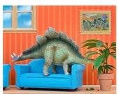 30% OFF SALE Stegosaurus dinosaur decor art print: Plant Eater