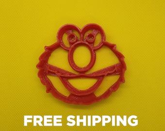 Sesame Street Elmo Muppet Inspired Cookie Cutter - 3D printed baking accessory The Muppets Comedy Cute Kids Children Gift Present Idea