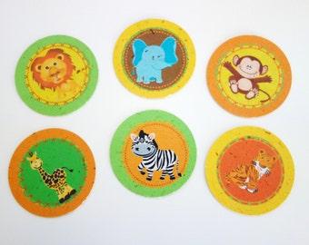 Baby Safari 2-inch Circle Tags (Tree-Free Banana Paper!)