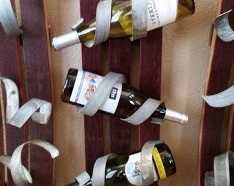 Upcycled Wine Barrel Bottle Rack