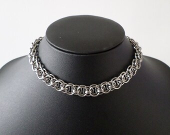 Helm Weave Stainless Steel Chainmail Collar - Gothic Day Choker