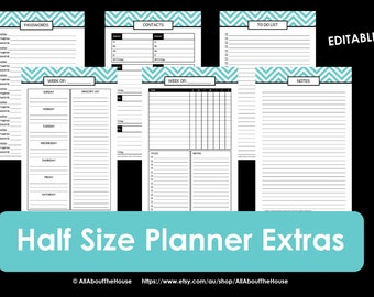 Printable Planner daily planner weekly planner calendar diary PDF Editable day Agenda academic Add On Letter rainbow to do list 2016 2017
