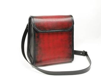 Large Leather Messenger Purse Crossbody