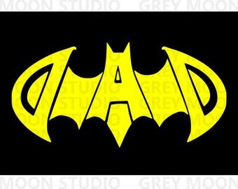 batman dad svg, father's day, super hero, dad