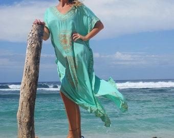 Embroidered maxi caftan/Maxi dress/Beach wear/Bohoemian caftan * KAROL MAXI KAFTAN
