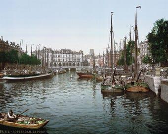 Rotterdam - De Haven, 1900. Afdrukken/Poster (4869)