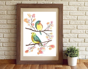 Two Birds on Branches *Digital Download*
