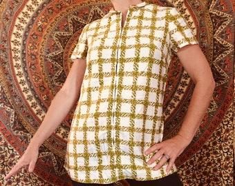 Vintage handmade arty smock top blouse
