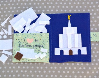 LDS Temple Building Shapes Handmade Felt Quiet Book