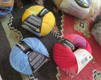 Lot of 8 SCHACHENMAYR Balls of Yarn Various Colors Skeins