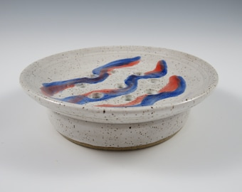 Ceramic Soap Dish ~ Pottery Soap Dish ~ Soap Dish ~ Draining Soap Dish ~ Two Part Soap Dish